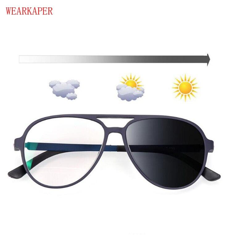 No Screw Titanium Transition Sunglasses Photochromic Reading Glasses Men Hyperopia Outdoor Presbyopia Glasses 1.0-4.0