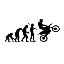 Autocollants de style de moto   En vinyle, 16.9*7cm, évolution amusante de moto, pour Mazda 3 Volvo Hyundai Mercedes W205, accessoires de moto