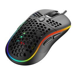 M2 novo leve com fio mouse oco-para fora do jogo mouce ratos dpi usb ajustável wired gaming mouse para desktop portátil