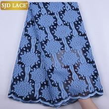 SJD dentelle français dentelle tissu avec paillettes africain dentelle tissu haut couture 3D fleur maille pour les Festivals de mariage robe MaterialA1898