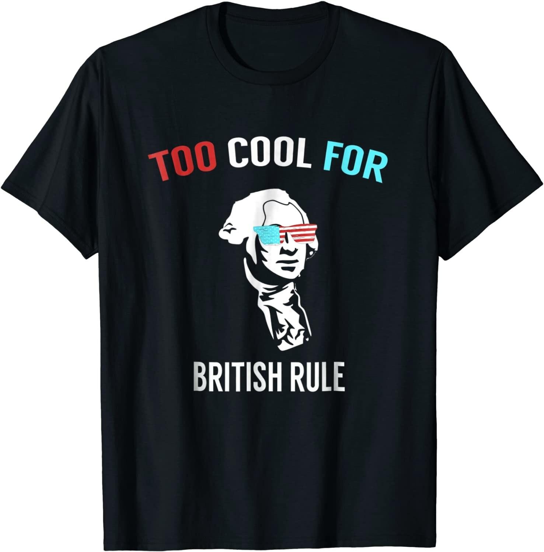Demasiado genial-Camiseta divertida del 4 de julio para fiesta de camisetas menores...