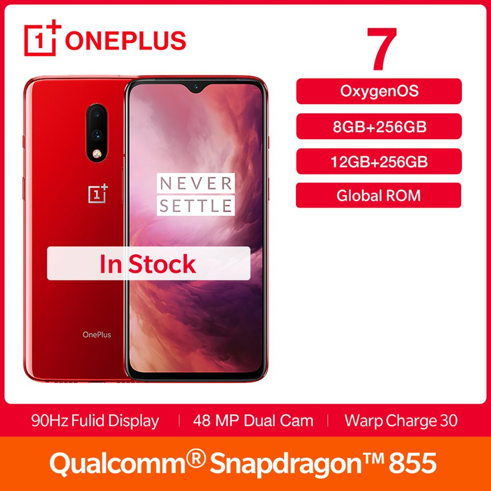 New OnePlus 7 Global Rom 256 GB ROM 6.41 inch AMOLED Display Snapdragon 855 48MP Dual Cam 3700 Battery Smartphone NFC Android 9