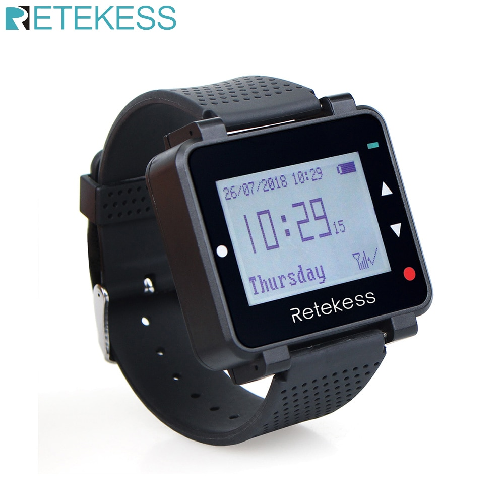 Retekess T128 Watch Receiver Wireless Pager 433.92MHz For Waiter Calling System Restaurant Equipment