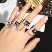 Multi-couche ouvert anneau de doigt Style Punk réglable quatre doigts anneau Hip Pop rotation anneaux fête bijoux croix vierge marie Penda