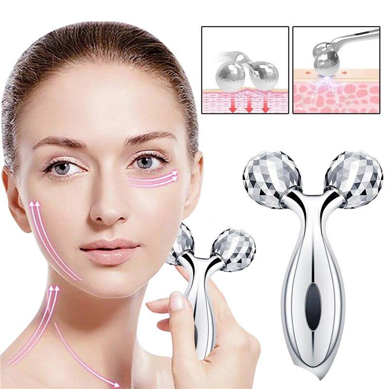 Роликовый массажер роликовый Y-образный для подтяжки кожи лица