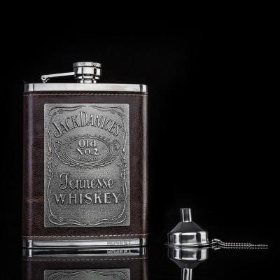 Frasco de Metal de lujo personalizado, frasco de cadera Retro, creativo, portátil,...