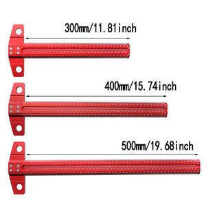 Carpenter Measuring Tools Woodworking T-type Line Scriber Hole Scale Ruler Aluminum Alloy Marking Gauge Crossed Line Scriber