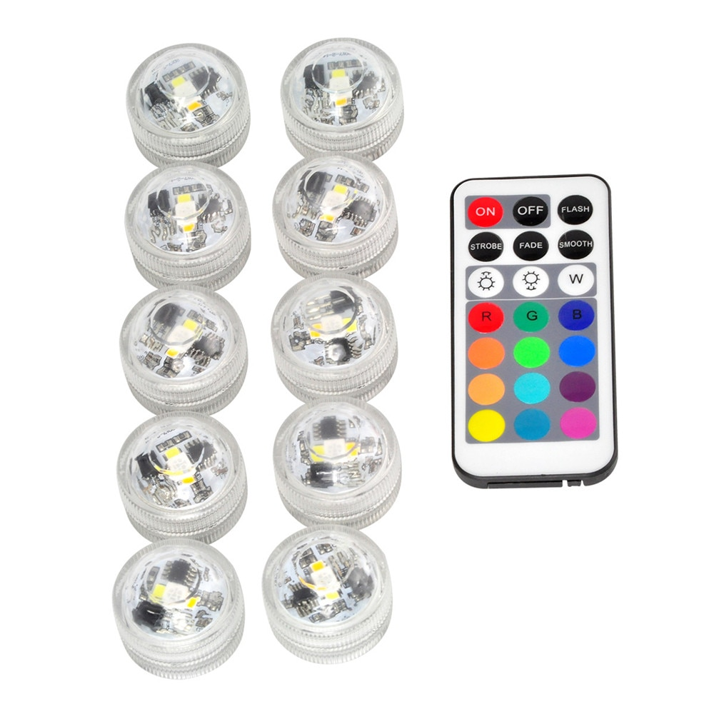 high brightness rgb led underwater light lamp ip68 waterproof swimming pool pond lighting color changing 3000k 6000k 8pcs lot Battery Operated Multi Color Submersible LED Underwater Light for Fish Tank Pond Swimming Pool Wedding Party IP68 Waterproof