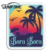 Jump Time for Bora Bora Vinyl Stickers Sunset Travel Sticker Laptop Luggage Waterproof Accessories C