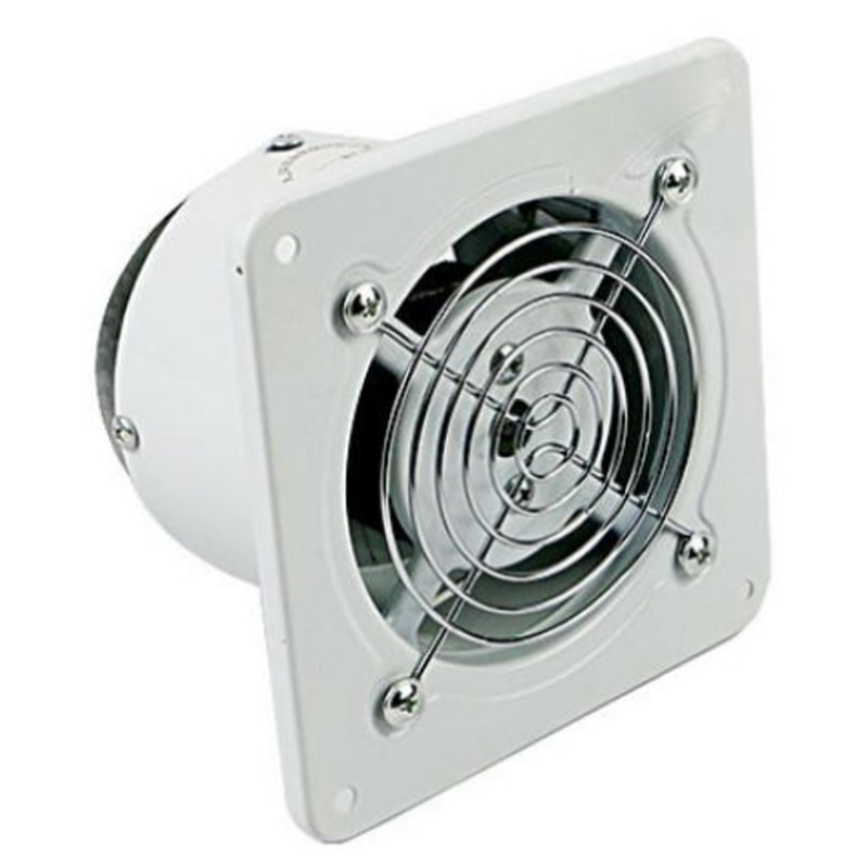 4 Inch 20W 220V Ventilating Exhaust Extractor Fan Window Wall Kitchen Toilet Bathroom Duct Booster Blower Air Clean Cooling Vent