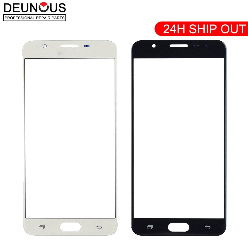 Panel táctil Original para Samsung Galaxy J7 Prime G610 On7, pantalla táctil (sin digitalizador), cristal frontal exterior, lente táctil