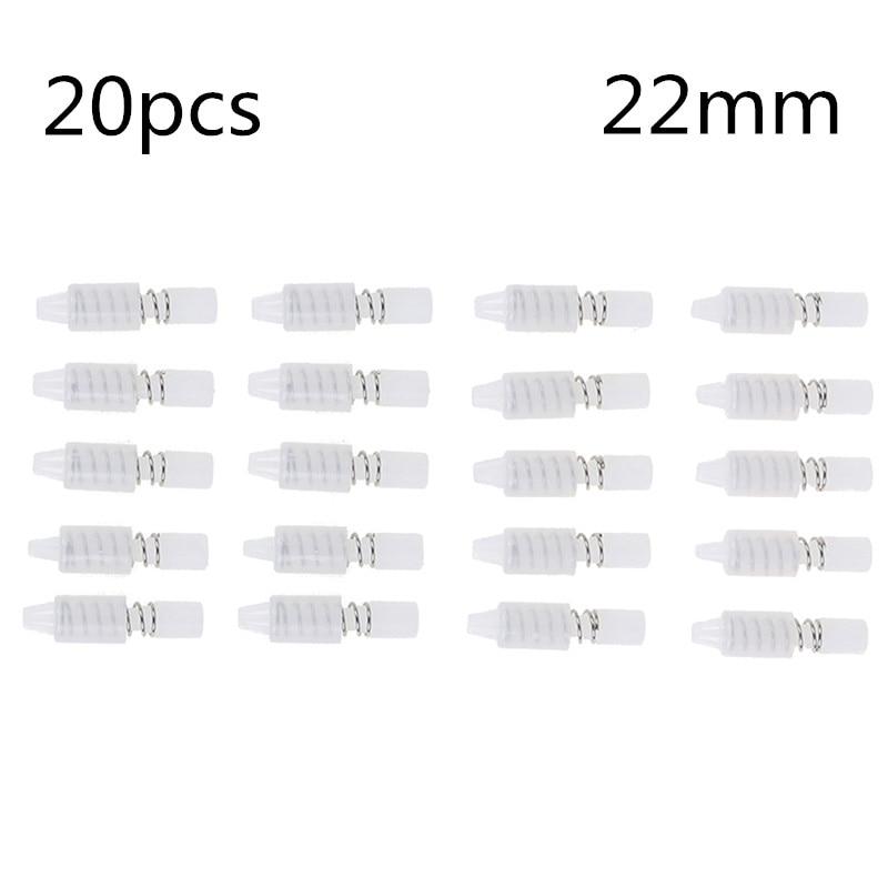 20 uds/lote 22mm disipador de calor ventilador de refrigeración resorte remache sujetador Push Pin Tornillo de montaje Color blanco