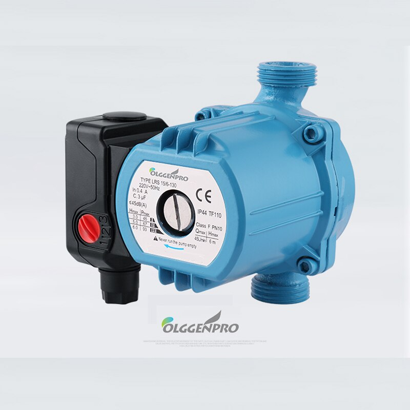 Central Heating Circulator 3-Speed 120W Mute Boiler Hot Water Circulation Pump Cast Iron  Insulation Class IP42 Protection 220V