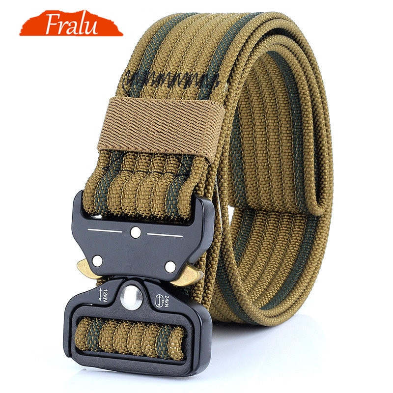 excellent elite spanker outdoor tactical molle nylon patrol waist belts army military accessories jungle hunting combat men belt FRALU New Nylon Belt Men Army Tactical Belt Molle Military SWAT Combat Belts Knock Off Emergency Survival Waist Tactical Gear