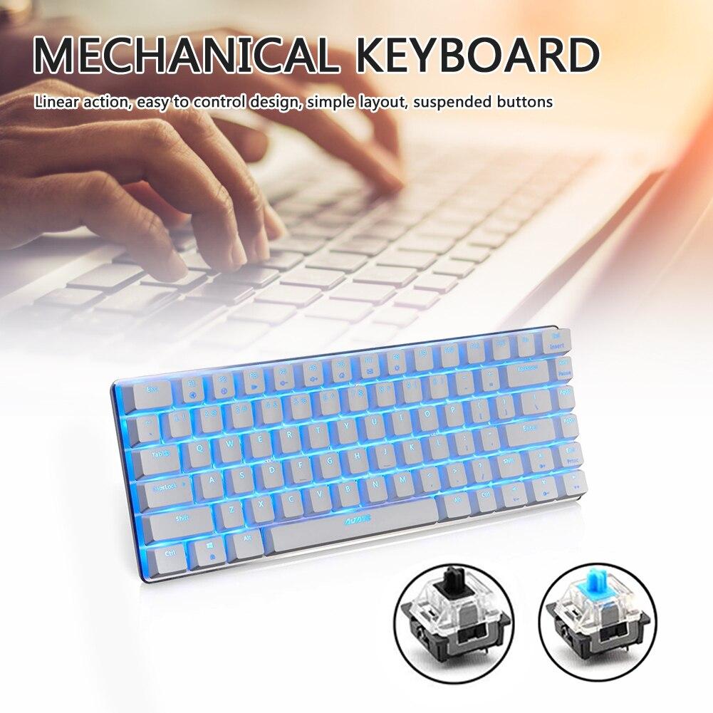 لوحة مفاتيح ميكانيكية سلكية AK33 ، 82 مفتاحًا ، بإضاءة خلفية ، احترافية ، فائقة النحافة ، لأجهزة الكمبيوتر وأجهزة الكمبيوتر المكتبية