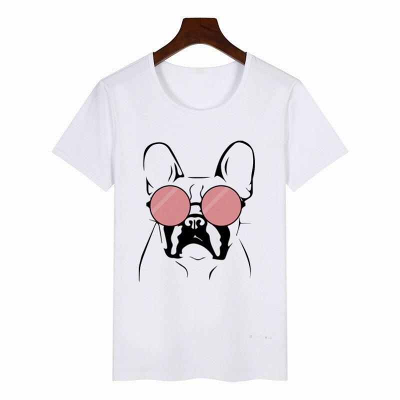 Camiseta Casual divertida para mujer, camiseta Hipster Tumblr Ulzzang, ropa coreana, camiseta con dibujo de Bulldog Francés, camiseta para mujer