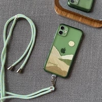 luxury crossbody necklace cord lanyards rope phone case for iphone 12 11 pro max se mini x xr xs 6 6s 7 8 plus cover