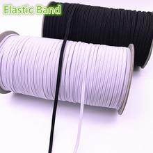 3-12mm 5 Yards haute-élastique bandes bobine bande de couture plat élastique cordon blanc noir pour la fabrication de bijoux bricolage accessoires faits à la main