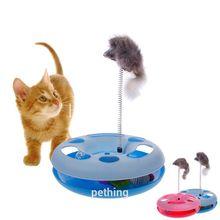 Jouets chiot chat pour animaux   Plateau de jeu amusant et fou avec souris/boule, chien de compagnie, chat, jouer en cercle heureux, jouet disque dentraînement, jouets interactifs pour chats, nouvelle collection