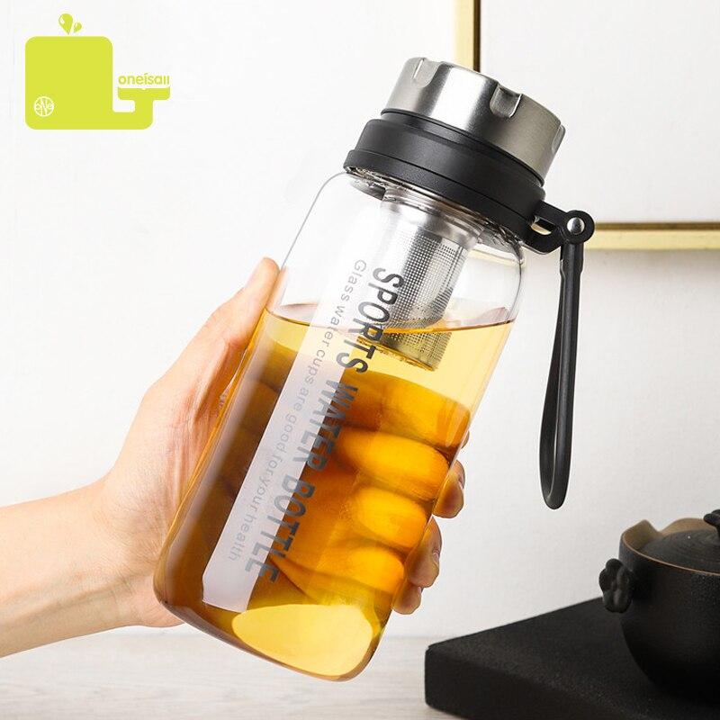 800 مللي/1000 مللي الرياضة زجاجات مياه الشاي إنفيرس الزجاج زجاجة المياه المحمولة مانعة للتسرب درينكوير فراغ الشاي القهوة أكواب السفر