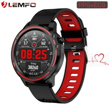 LEMFO L8 ECG + PPG Smartwatch IP68 블루투스 Smartwatch 안드로이드 IOS 지원 320mAh 스마트 스포츠 시계 남성 건강 추적기