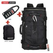 MAGIC UNION marque serrure + housse + sac sac à dos pour ordinateur portable hommes Mochila Masculina homme sacs à dos homme bagages et sacs de voyage