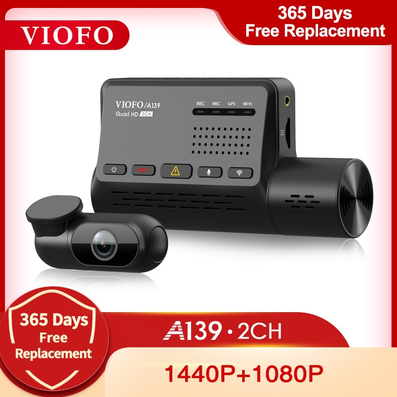 VIOFO A139 Car DVR Dash Cam Dual Channel with GPS Built in Wifi Voice Notification Rear View Camera Video Recorder 24H Parking