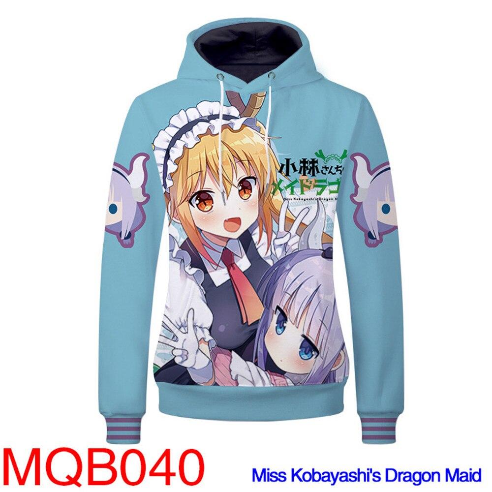 Kobayashi-san Chi No Maid Dragon Hoodies Tohru KannaKamui Cosplay Costumes Tohru Sweatshirts Couple Sweater Hoodie