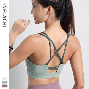 Sports underwear women's running shockproof gathering shaping yoga back vest fitness bra Outdoor