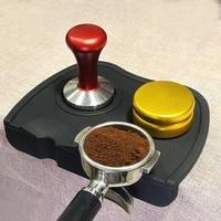 coffee press powder pad corner cushion powder hammer pads espresso machine powder press non slip silicone pad coffee set