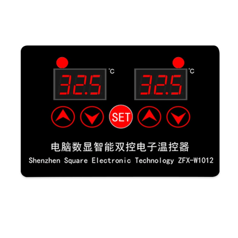 Termostato electrónico inteligente de doble control, pantalla digital de ordenador, termostato ajustable de temperatura dual