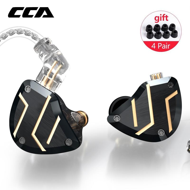 CCA C10 PRO 1DD + 4BA controladores híbridos en Auriculares auriculares de monitoreo de alta fidelidad auriculares con conector de 2 pines CCA C12 C16 CA16 ZSX ZSN