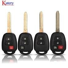 Kutery Fernbedienung Auto Schlüssel Shell Fall Fob Für Toyota CAMRY Corolla Tundra Pruis Mit TOY43 Klinge 2/3/4 Tasten