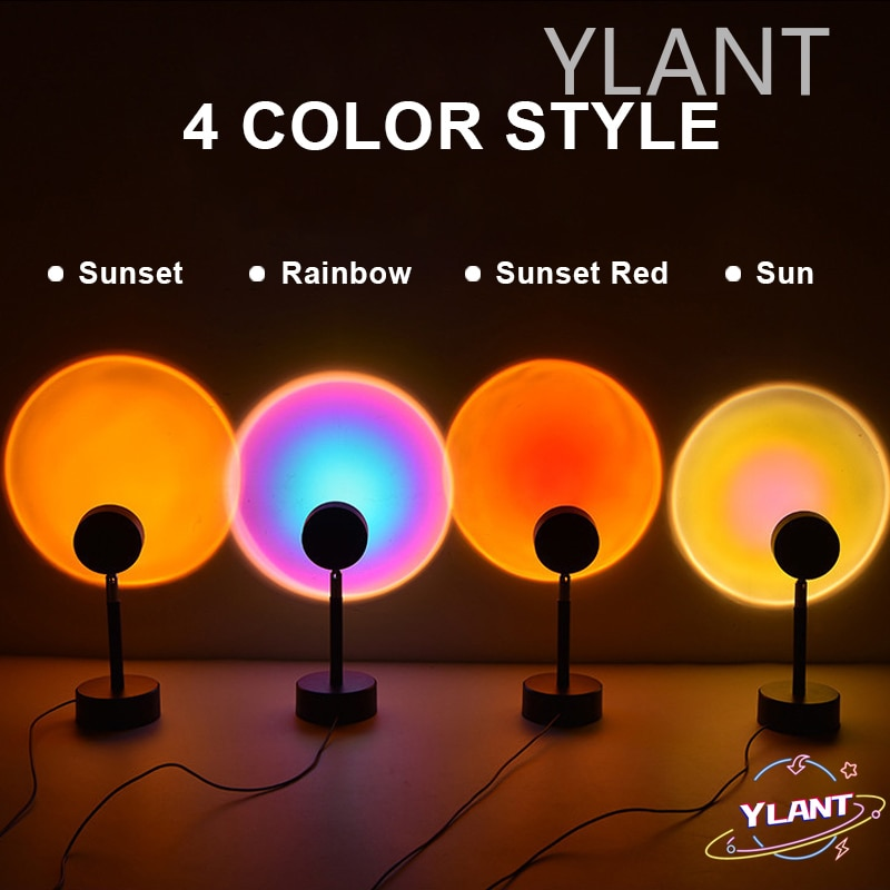 Live Broadcast Background Like Galaxy Projector Atmosphere Rainbow Lamp Decoration For Bedroom Sunset Projection Night Lights enlarge
