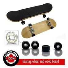5 Verschillende Kleur Professionele Toets, Houten Fingerboards Vinger Skateboard Legering Stent Lager Wiel Nieuwigheid Toets