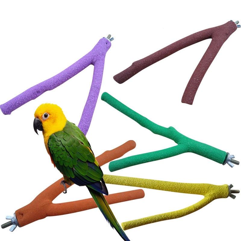 Parrot Toys Pet Accessories Cage Perches Stand Platform Paw Grinding Bites Toy Bird Resk Holder Perches Platform 1pcs