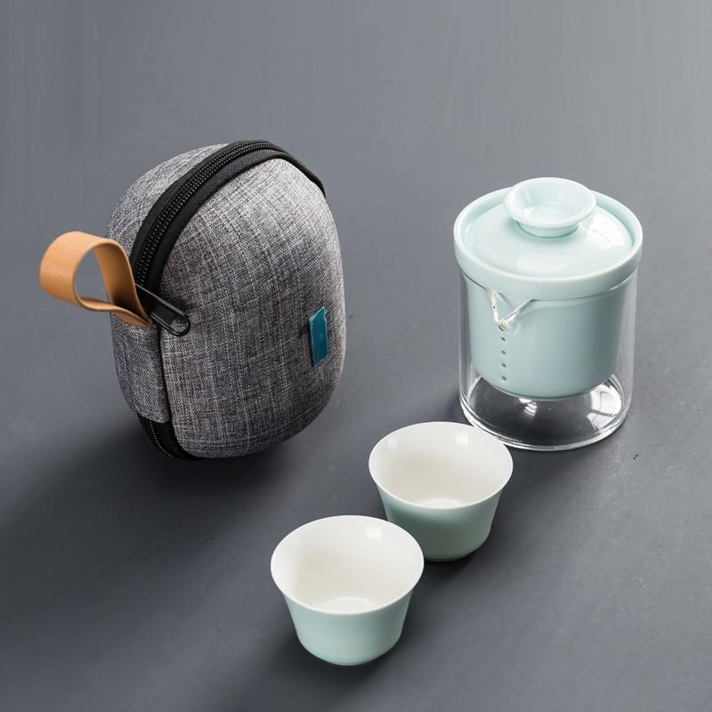 طقم أواني شاي سيراميك بسيط وعصري ، طقم إبريق شاي محمول للسفر ، علب هدايا ، شريط طعام للمطبخ DJ60TS
