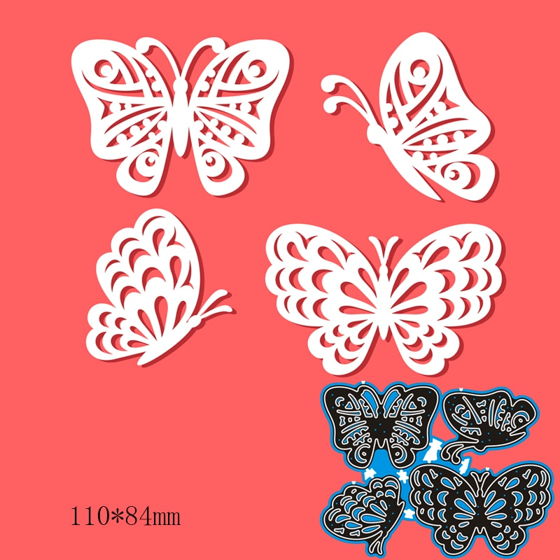 110*84mm Hollow Butterfly Graphics Cutting Dies DIY Scrap Booking Photo Album Embossing Paper Cards