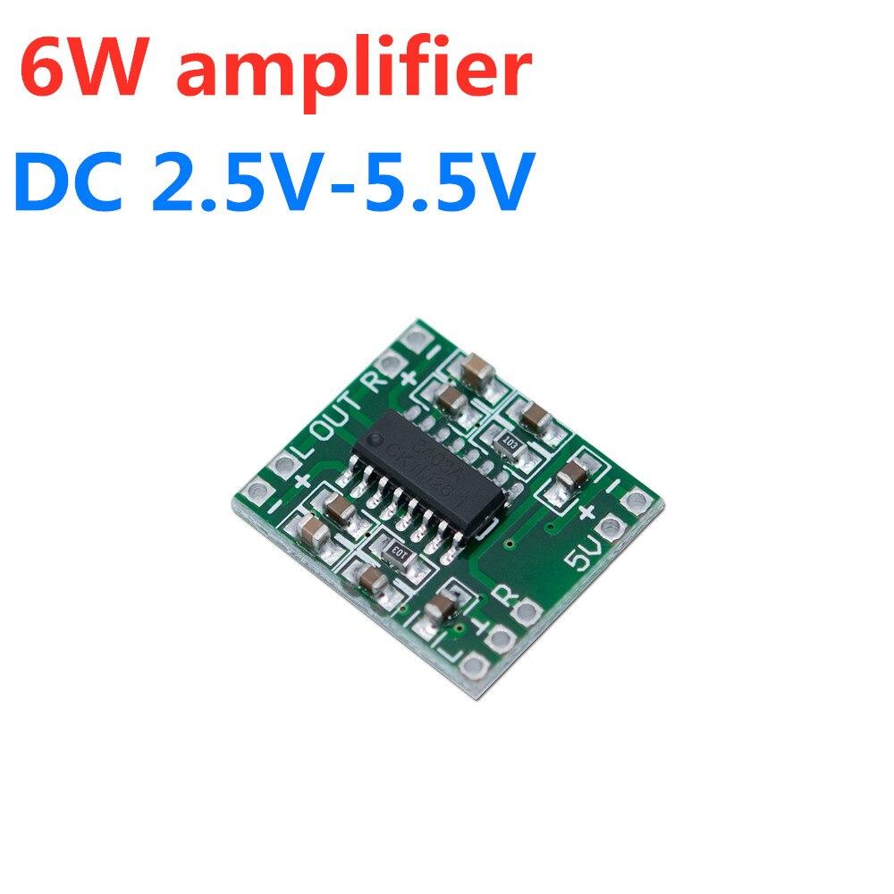 VICFINE 6W amplifier DC2.5-5V PAM8403 6W dual channel digital audio amplifier board AMP module chip 2X3W 4 ohms for CAR