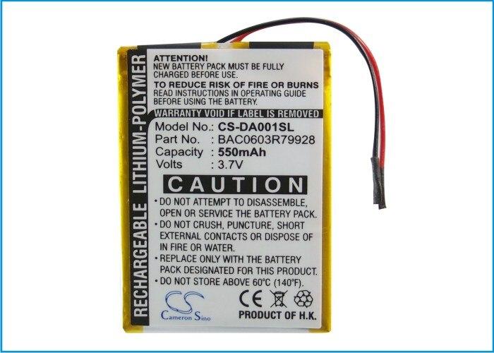Cameron Sino 550mAh Battery For Creative DVP-FL0006 Zen X-Fi 16GB 32GB 4GB 8GB,BAC0603R79928