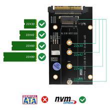 VODOOL U.2 SFF-8639 à M2 adaptateur SSD U.2 à M.2 NVME SSD M clé carte dextension pour 2230 2242 2260 2280 M2 SSD