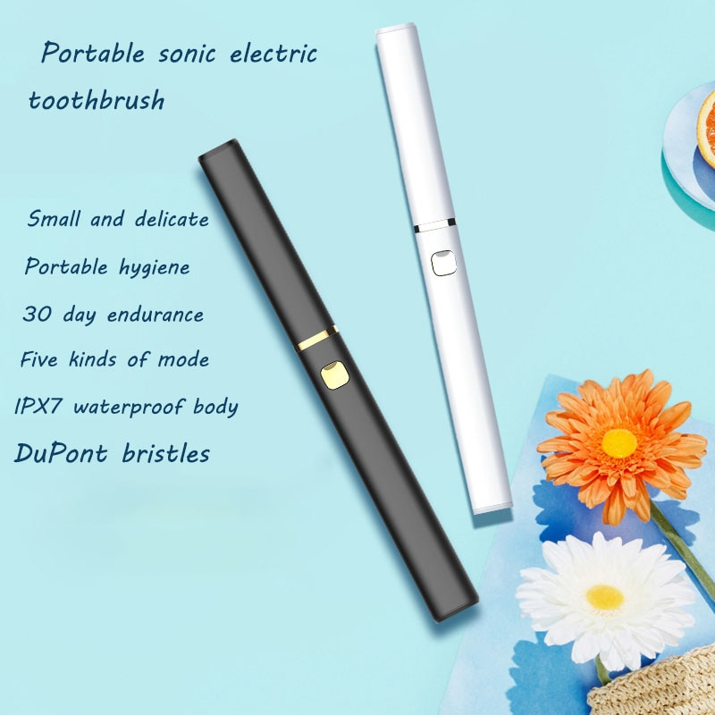 New Intelligent Electric Toothbrush Ipx7 Waterproof Sonic Couple Set Portable Intelligent Electric Toothbrush With Dust Cover
