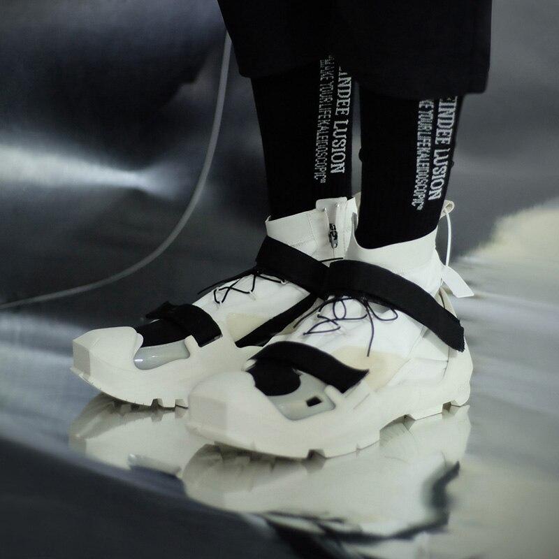 Renas lusion gráfico meias tripulação meias slogan meias esportivas techwear estilo punk moda