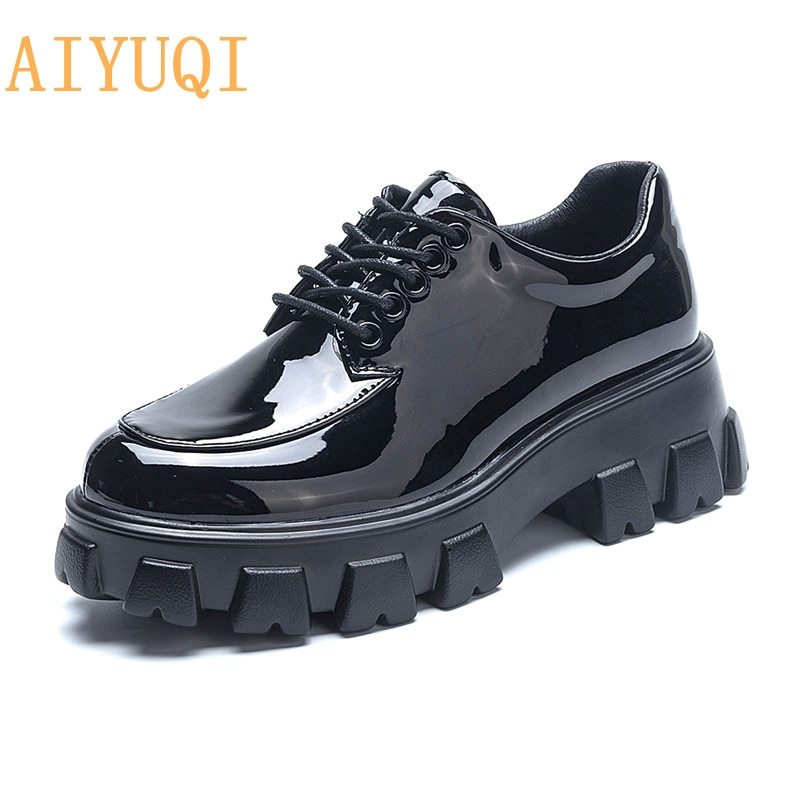 AIYUQI Women's Shoes Large Size 35-44 Spring New Style Genuine Leather Lace-up Platform Fashion Wome