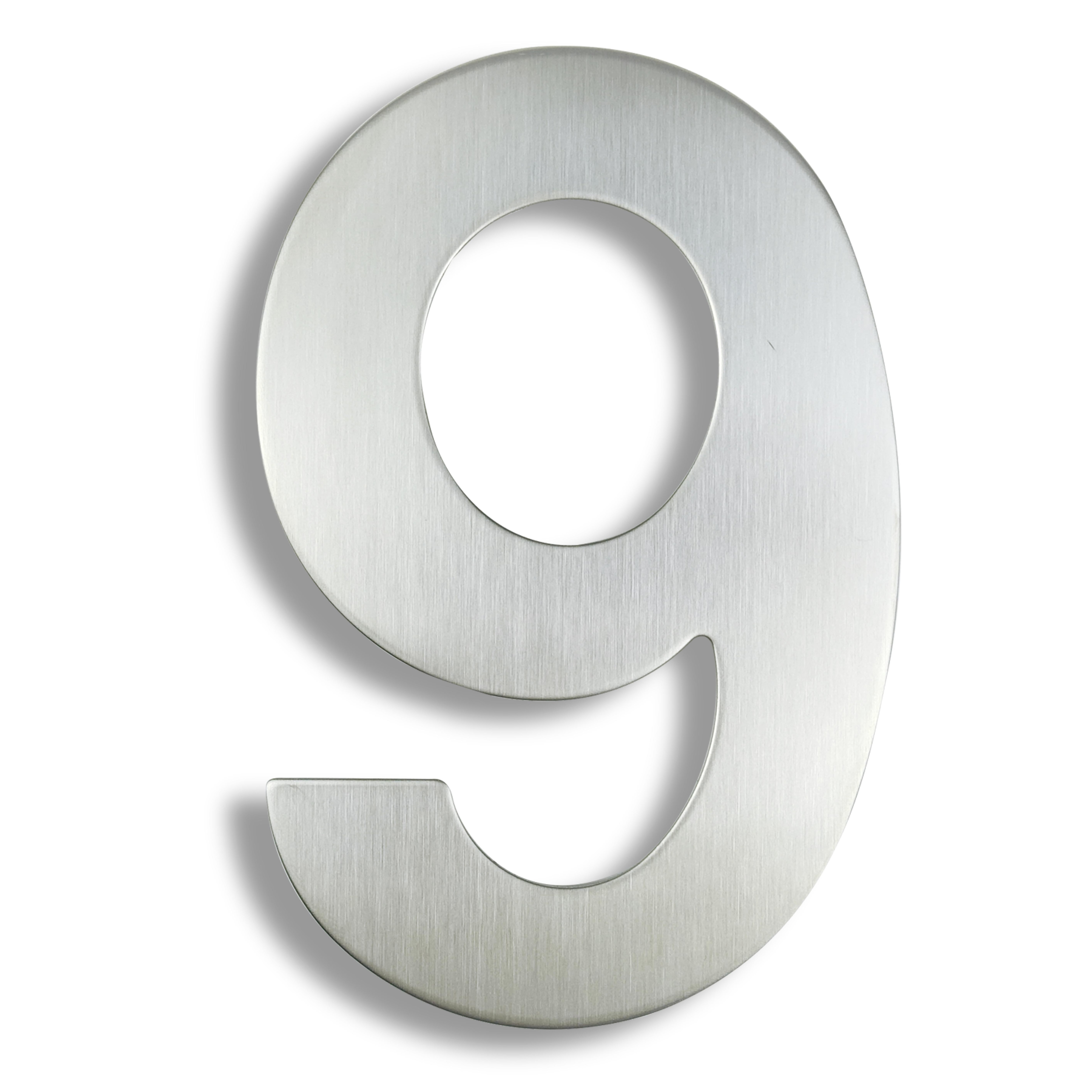 Número de la Casa de 15cm, señal #9 Huisnummer para exteriores, plata,...