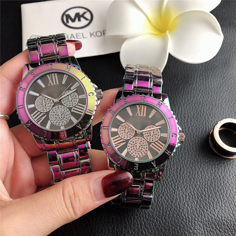 YUNAO Jewelry Popular Colorful Color Strap Women's Quartz Watch Fashion Retro Women's Watch Simple New Steel Band Watch enlarge