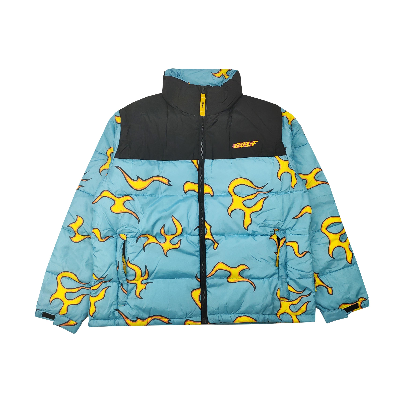 New luxury Men golf Flower Le Fleur Tyler The Creator Blue flame Coats & Jackets / Down Coats Cotton warm Winter #M38