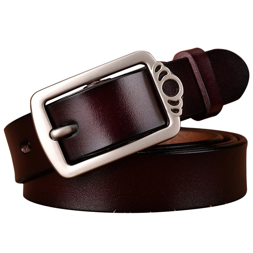 Fashion Design Ladies Decorative Clasp Buckle Metal Cow Genuine Leather 23mm Wide Female Accessories for Women FCO097