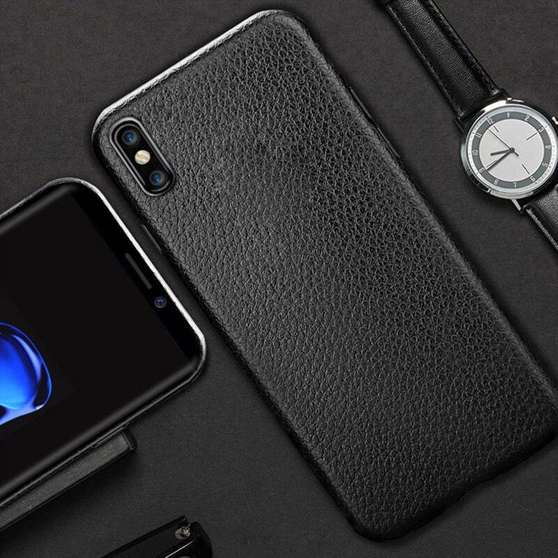 Ultra Thin Phone Cases Für iPhone 5 5S SE 6S 6 7 8 Plus X XS XR Max abdeckung Leder Haut Weich TPU Silikon Fall Für iPhone 6S