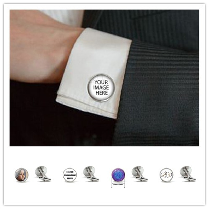 Personalized Custom Cufflinks Mum Dad Baby Children Grandpa Parents Cuff Button for Male Gentleman Shirt Wedding Links